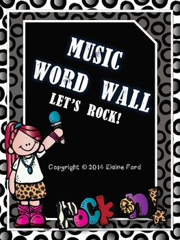 Music Word Wall: Let's Rock!