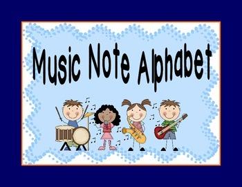 Music Note Alphabet