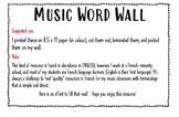 Music Word Wall / Mur de Mots Musical (Beginner Band)