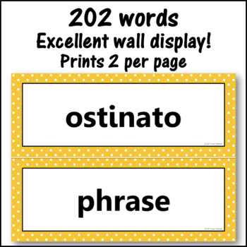 Music Word Wall {Music Room Décor} gold