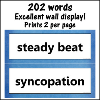 Music Word Wall {Music Room Décor} subtle blue
