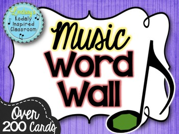 Music Word Wall {Music is a Universal Language Set}