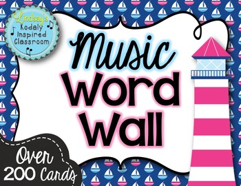 Music Word Wall {Nautical Theme}