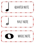 Music Note Cards