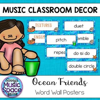 Music Word Wall {Ocean Theme}
