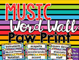 Music Word Wall Paw Prints Theme