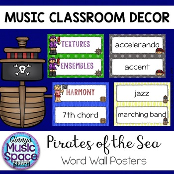 Music Word Wall {Pirate Themed}