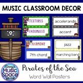Music Word Wall Pirate Theme