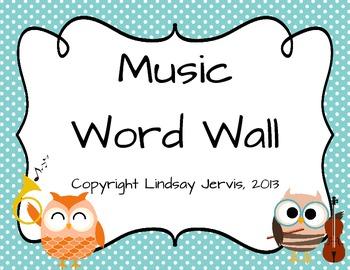 Music Word Wall {Polka Dot}