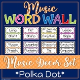 Music Word Wall - Polka Dot Themed