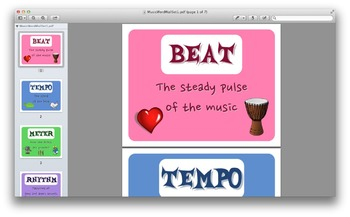 Music Word Wall Posters (Terms, Vocabulary, Definition, Elements of Music)