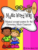 Music Word Wall:  Definition Posters for the Elementary Music Classroom
