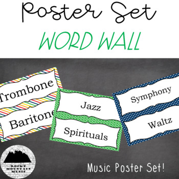 Music Word Wall Primary Colors