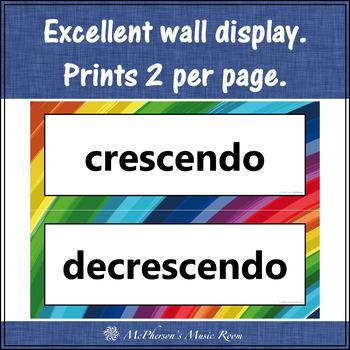 Music Word Wall {Music Room Décor} rainbow