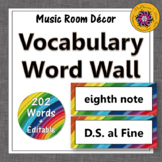 Music Word Wall {Music Room Décor} rainbow