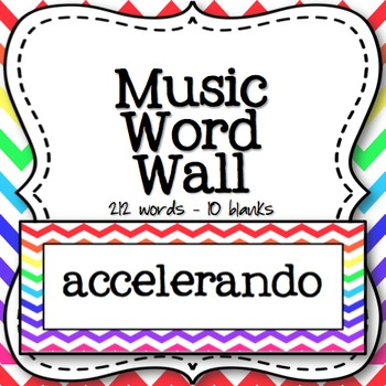 Music Word Wall (Rainbow Chevron)