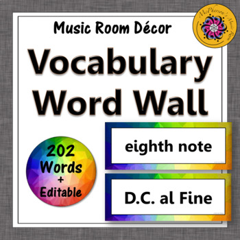 Music Word Wall {Rainbow Subtle}