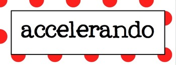 Music Word Wall (Red and White Polka Dot)