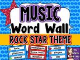 Music Word Wall - Rock Star Theme