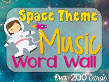 Music Word Wall {Space Theme}