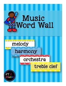 Music Word Wall [Super Hero Dots]