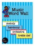 Music Word Wall [Super Hero Dots]