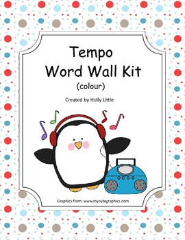 Music Word Wall - Tempo (colour)