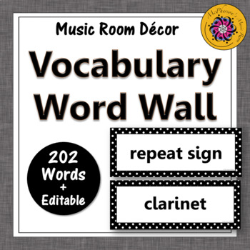 Music Word Wall {Music Room Décor} black