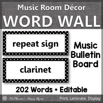 Music Word Wall {black}