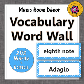 Music Word Wall {Music Room Décor} light blue