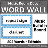 Music Word Wall {Music Room Décor} light blue