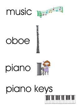 Music Word Wall/Vocabulary Cards