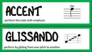 Music Word Wall/Vocabulary Cards Freebie