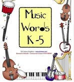 Music Words K-5