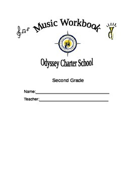 Music Workbook Cover Sheets 2nd-6th