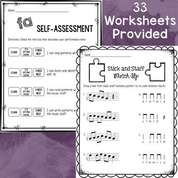 Music Worksheet Bundle: Fa