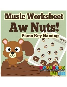 Music Worksheet Fall Piano Key Naming C-D-E Beginners