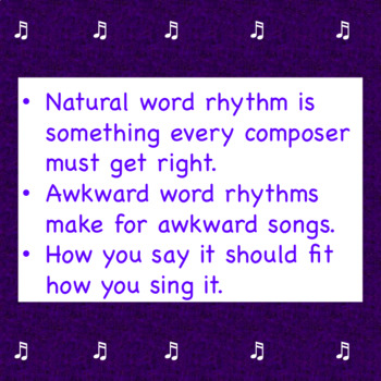 Music Worksheet:  Matching Rhythm with the Words (quarter & eighth notes)