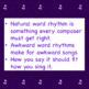 Chorus Worksheet:  Matching Rhythm with the Words (quarter & eighth notes)