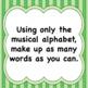 Music Worksheet:    Musical Alphabet  -  ♪  ♪  ♫  Make up words.