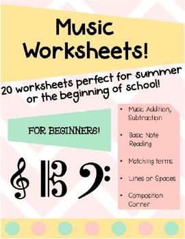 Music Worksheets for Beginners