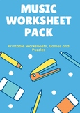 Music Worksheets Pack
