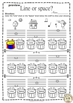 Music Worksheets Pack (Line-Space, High-Low)