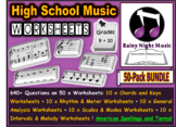 Music Worksheets Pack of 50 Bundle High School DISTANCE LEARNING