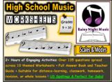Music Worksheets Scales and Modes DISTANCE LEARNING