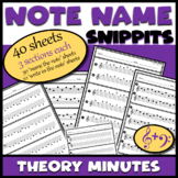 Note Name Music Worksheets - Treble Clef & Bass Clef Note