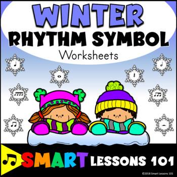Winter Music Worksheets: Rhythm Worksheets: Winter Music Symbol Activity Lesson