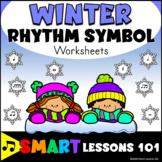 Winter Music Worksheets: Rhythm Worksheets: Winter Music S