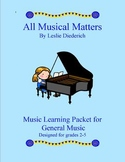 Music Worksheets and Games Grade 2-5