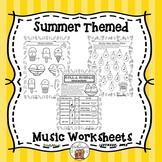 Music Worksheets for Summer